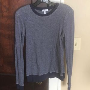 Leith Navy Blue stretchy sweater- Size M